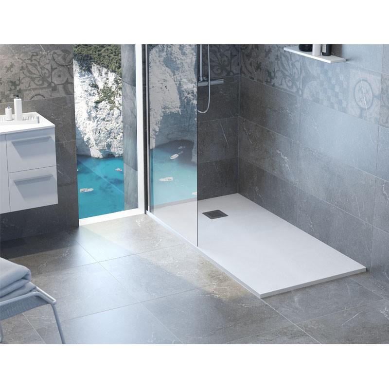 Platos de ducha 80 cm for Plato ducha pizarra blanco